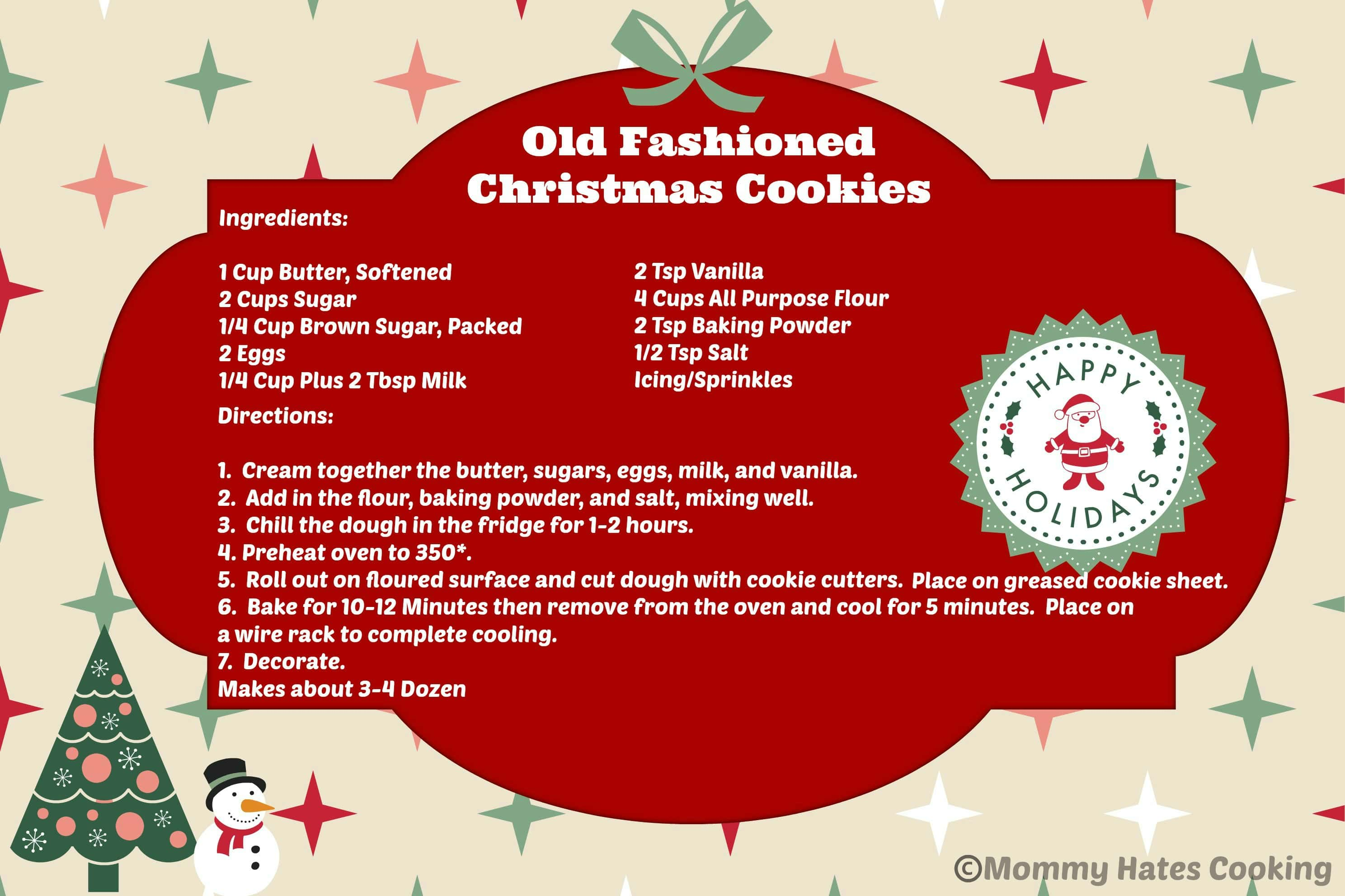 Old Fashioned Christmas Cookies Amp Free Printable