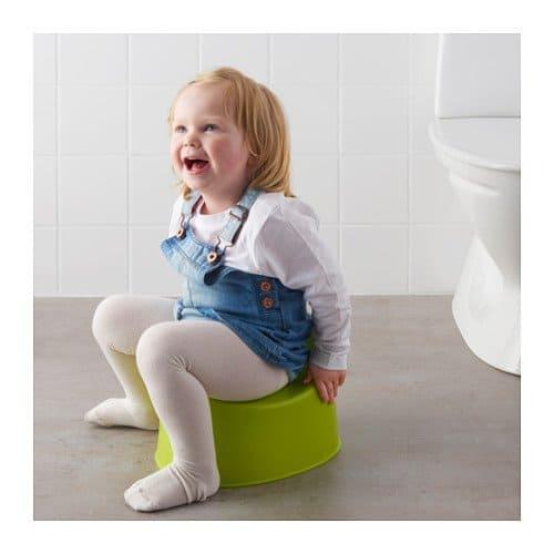 Ikea Lilla Children's Green Potty Toddler Toilet