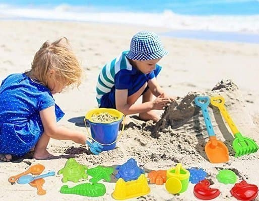 Click N' Play 18 Piece Beach Sand Toy Set