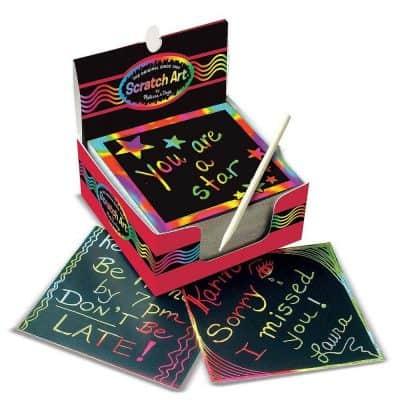 Melissa & Doug Scratch Art Rainbow Mini Notes