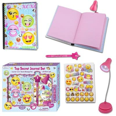 SMITCO Diary for Girls -Secret Emoji Journal Notebook with Invisible Ink Pen and Blue Light