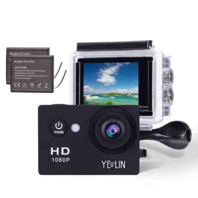 YELIN 1080P Full HD 2.0 inch LCD Screen Waterproof Sports Action Camera