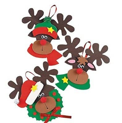 Foam Reindeer Holiday Ornament Kit by Fun Express
