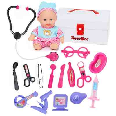 Kidcia Doctor Kit for Kids with Doll & Doctor Playset Toy