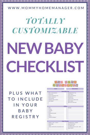 There are so many items on the market for new parents! Check out this customizable new baby checklist to keep track of everything you need for baby. Baby checklist, new baby, printable baby checklist, what to buy for baby. #babyregistry #newbaby #pregnant #newmom