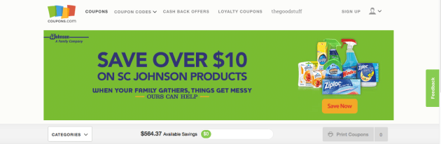 Coupons.com via My Favorite Money Saving Apps and Websites at Mommy: Home Manager