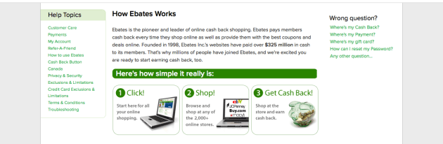 Ebates via My Favorite Money Saving Apps and Websites at Mommy: Home Manager