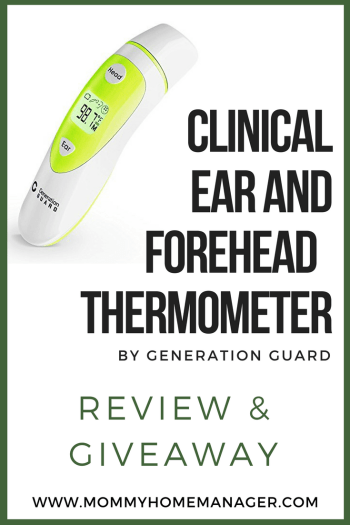 Having a sick or fussy little one is hard enough! Make it a little easier with this user-friendly ear and forehead thermometer from Generation Guard. Giveaway and discount code included in post.