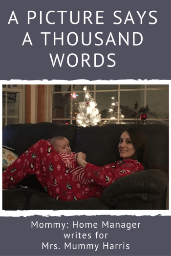 "We've all heard the saying ""A pictures is worth 1000 words,"" but do we ever think about what those words are? Read this story of my first Christmas with my son - battling stress, postpartum anxiety, and starting a new family tradition."