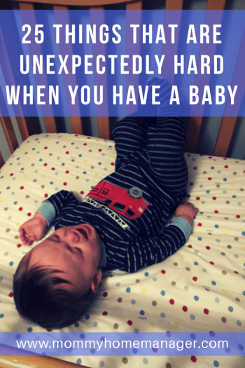 Being a parent is rough - in some ways that are totally unexpected. Either things that you never would have thought of or that are harder than you imagined with a baby.