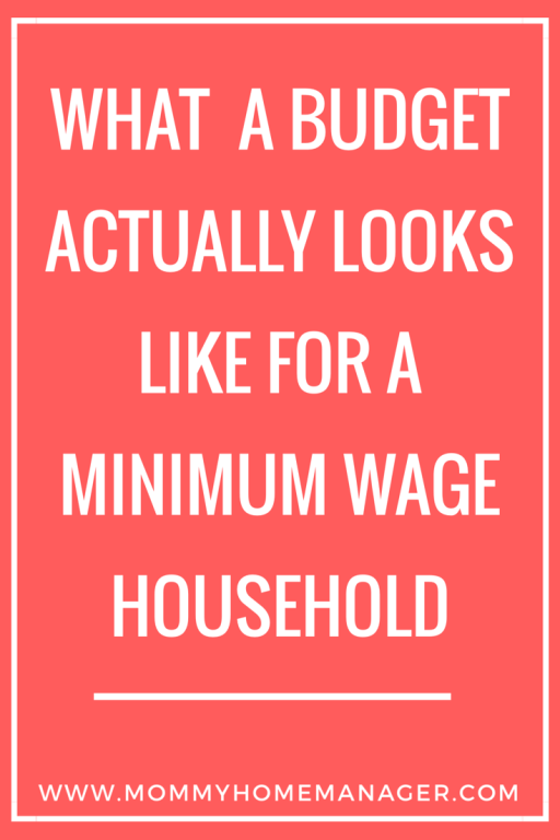 Can a family really live on two minimum wage incomes? Or even better, one income? This seems to be a hot topic right now. Check out this post to see what that looks like in reality.