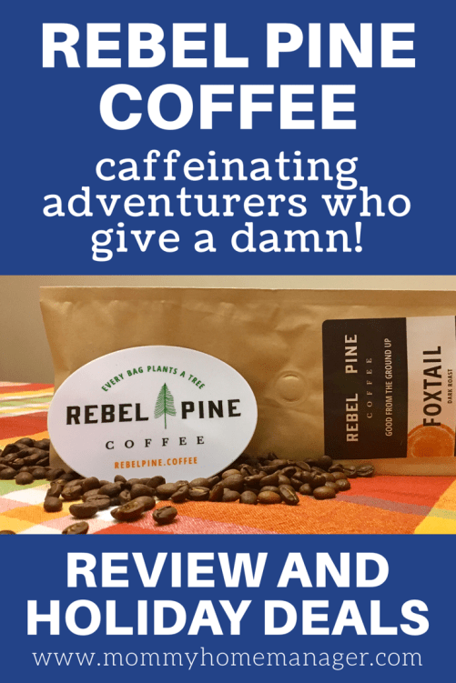 Need gift ideas for a coffee lover in your life? Just looking to try some new coffee? Check out Rebel Pine! Great coffee with a great mission. #coffee #coffeelover #coffeeislife Rebel Pine Coffee Review