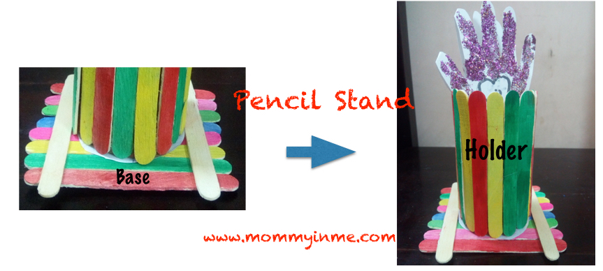 Popsicle stick Pen stand