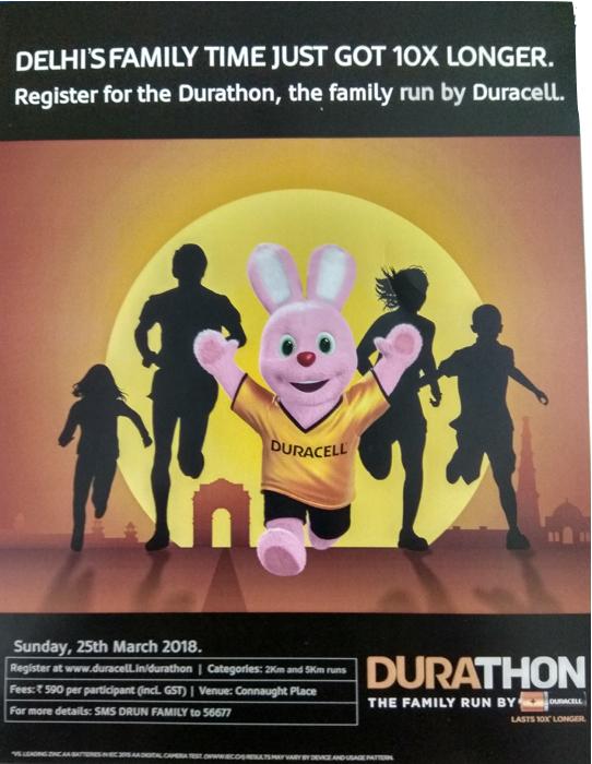 Durathon, a family run by Duracell #Marathon #Durathon #Familyrun #run #Delhi #Delhirun