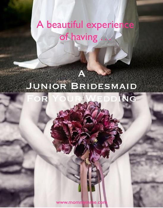 Are you planning your wedding and need to work on Bridesmaid? Why not take a chance to have one Junior Bridesmaid, which will fill the aura with fun. #juniorbridesmaid #bridesmaid #wedding #weddingfun