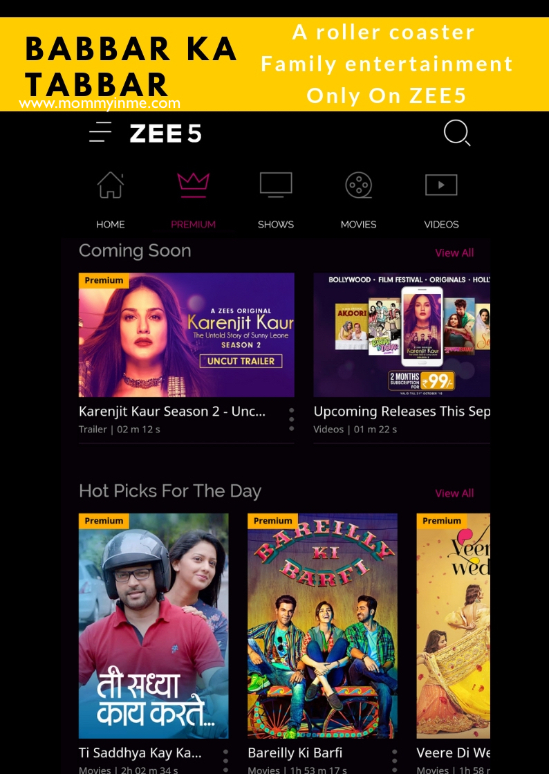Watch Babbar Ka Tabbarr on ZEE5, which gives you a relatable plunge into the exceptional yet quirky sea of parenthood & their acts. Laugh, relate and enjoy. #Zee5 #zeemovies #familydrama #mustwatch #series #fun