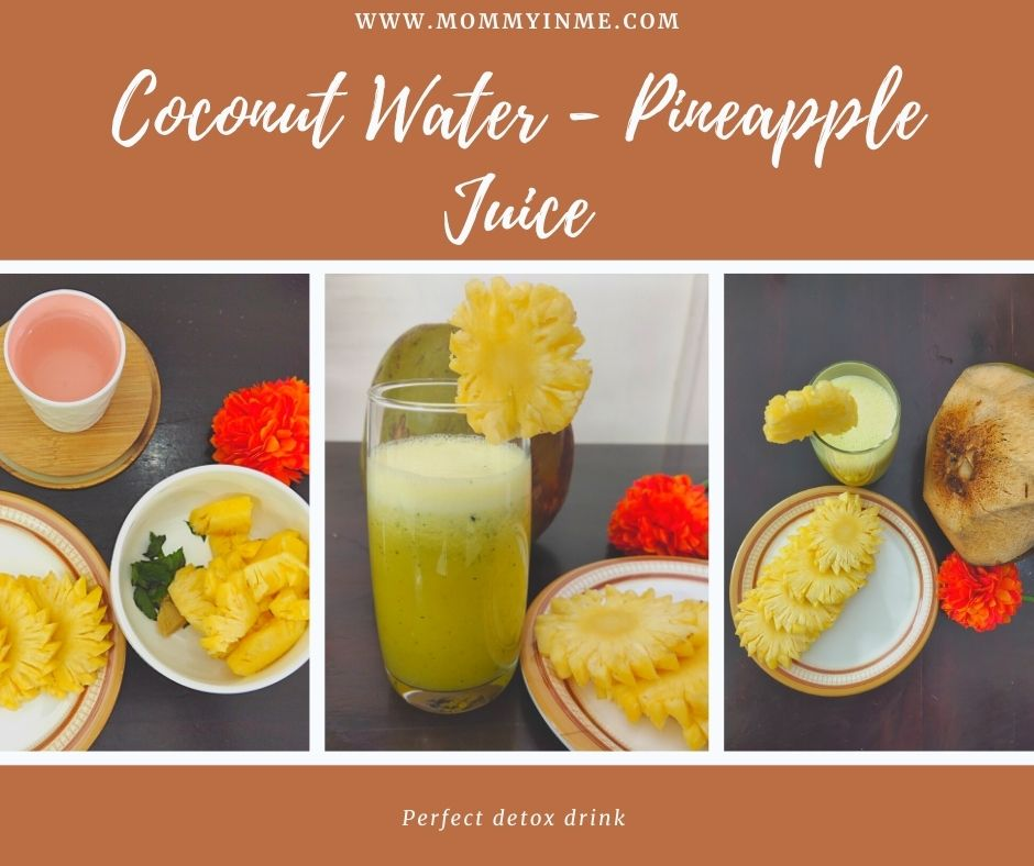 Coconut water Pineapple Detox drink recipe