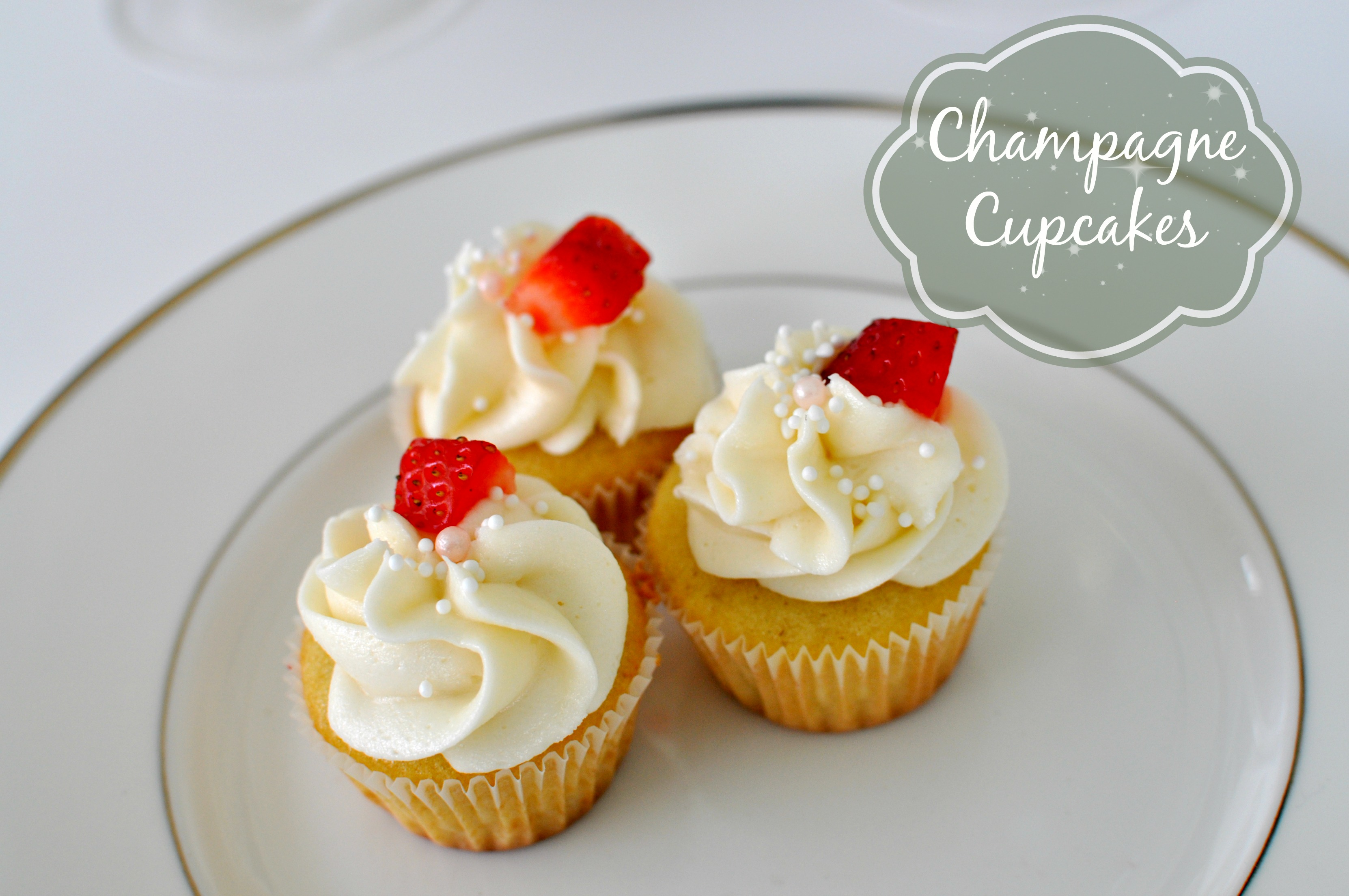 Champagne Cupcakes by Mommy in Sports