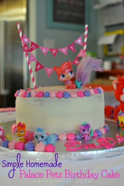 Simple Homemade Palace Pets Birthday Cake