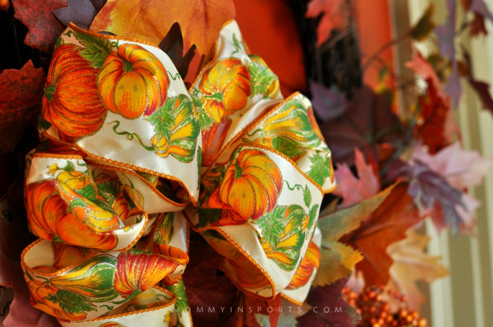Easy Fall Decorations Wreath Bow