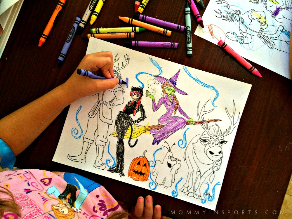 elsa halloween coloring pages - photo#35