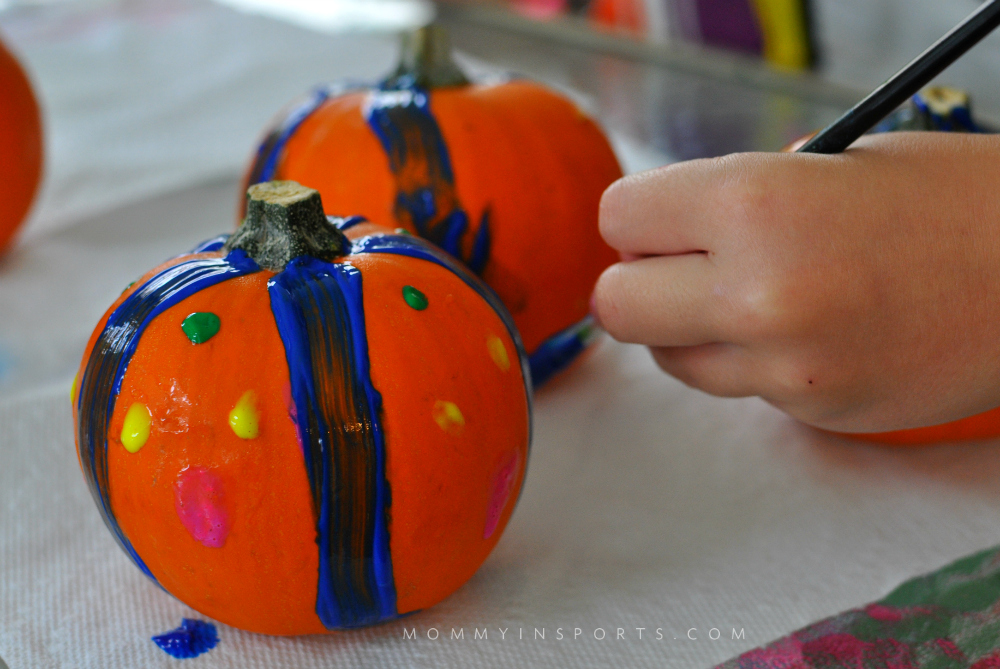 Painting Pumpkins Easy Fall Decorations