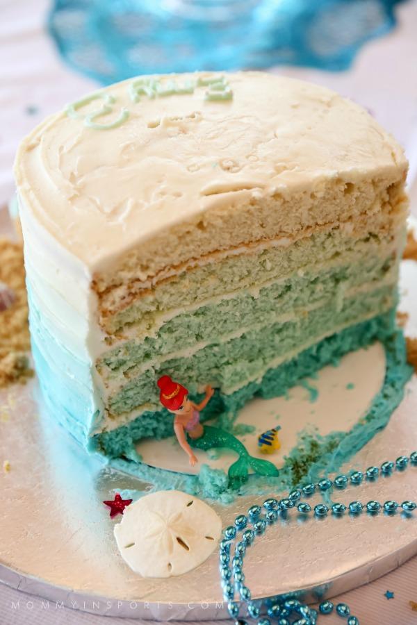 Ariel Cake Inside