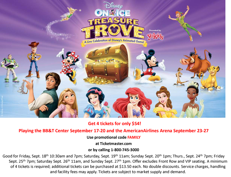 Win Tickets to Disney on Ice VIP Treasure Trove