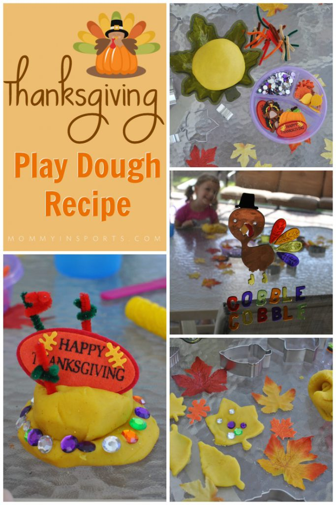 Looking for a fun craft or activity for Thanksgiving morning? Whip this up the night before and while you're preparing your Thanksgiving meal let the little ones create their own Thanksgiving masterpieces! This Thanksgiving Play Dough Recipe is simple and fun!