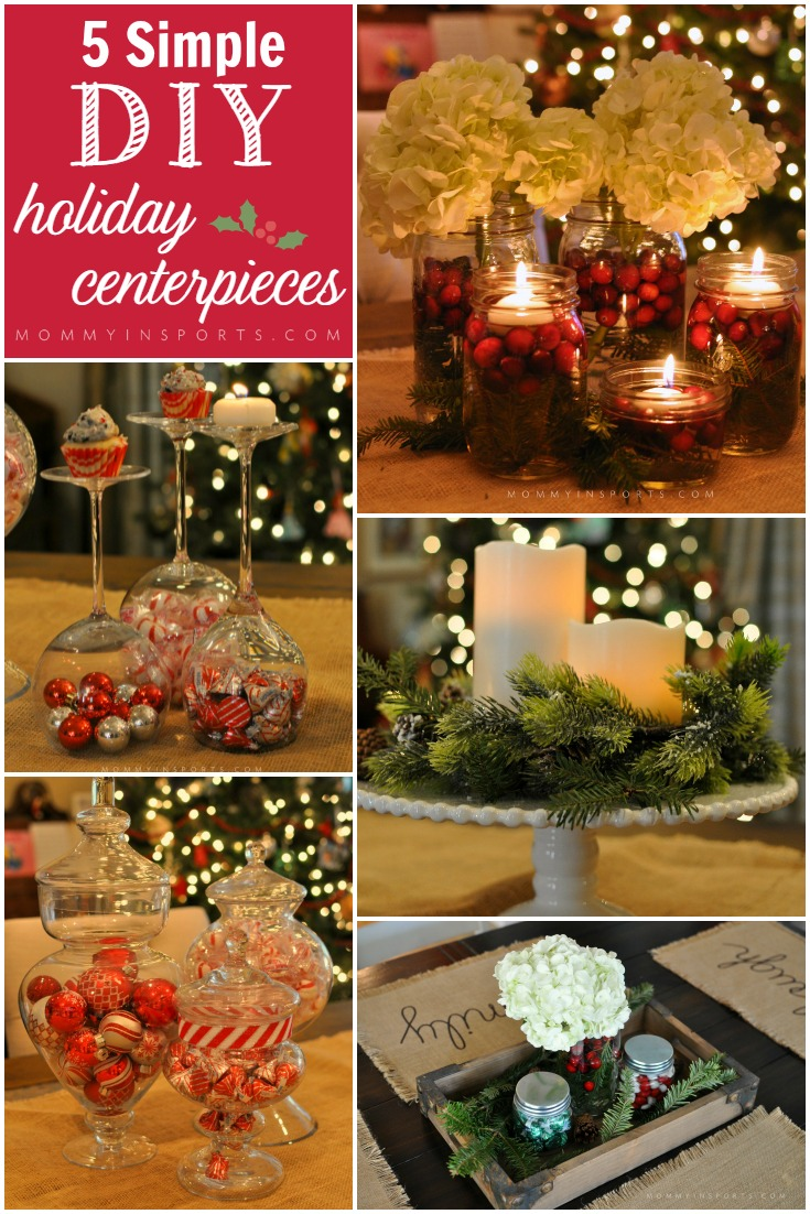 Need a quick table centerpiece but don't have time or money? Try one of these DIY Holiday Centerpiece ideas that you can make from items in your home!