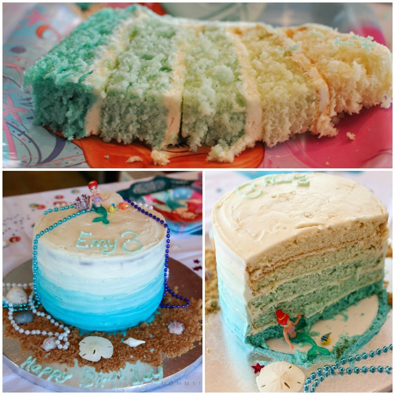 Ariel Ombre Cake Collage