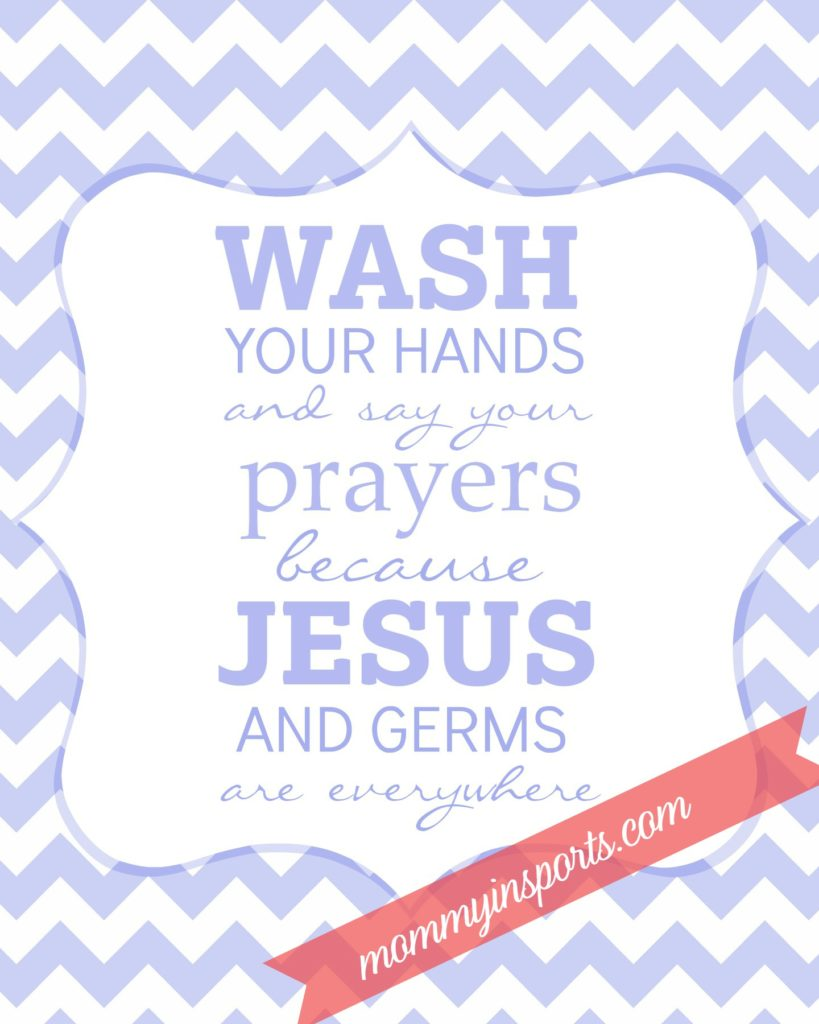 FREE bathroom printable Wash your hands Periwinkle mis