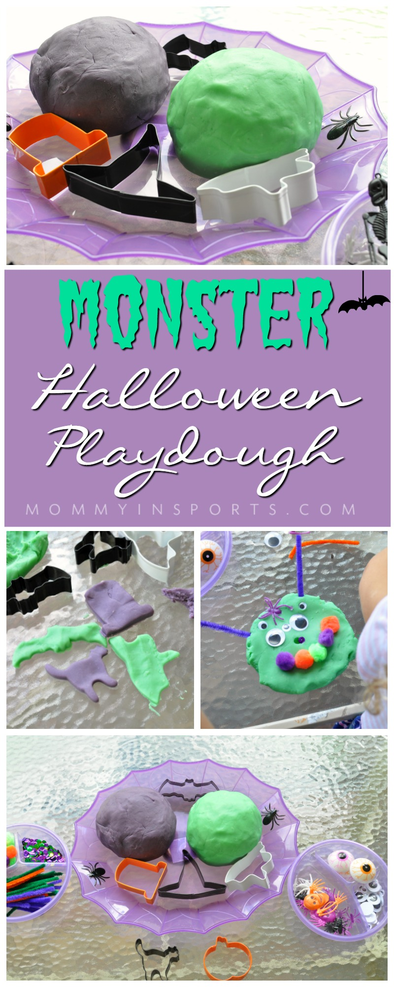 It's that time of your for spooky ghosts and goblins! Make this Monster Halloween Play Dough and wow your kids with a fun and easy art project!