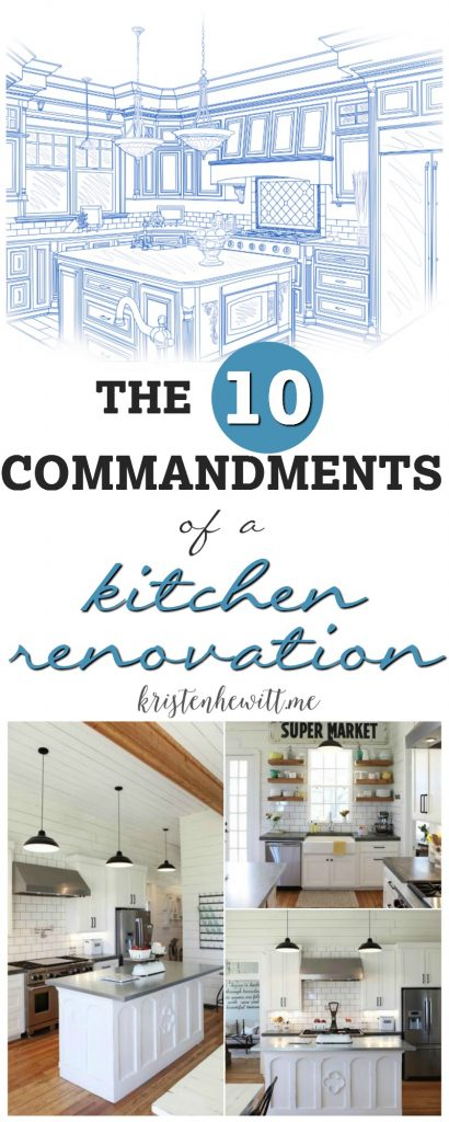Are you in the midst of a kitchen renovation? Or thinking of starting one? Take our advice and read the 20 Commandments of a Kitchen Renovation!
