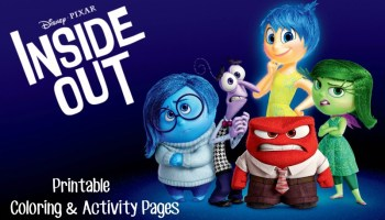 Disney Inside Out Coloring Pages Activity Sheets For Family Movie Night