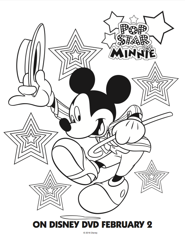 free mickey mouse club house coloring pages pop star minnie mouse