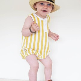 baggy romper stripes