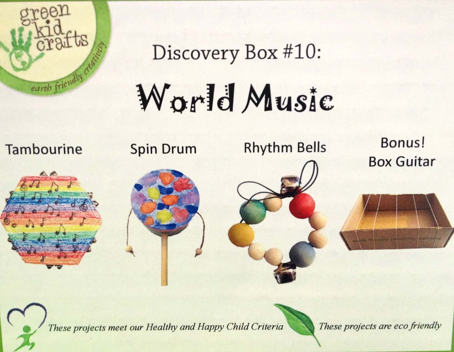 Diy Musical Instruments With Green Kid Crafts