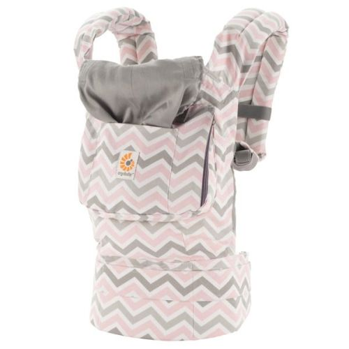 Chevron Pink and Grey-Original-Baby Carrier-Ergobaby