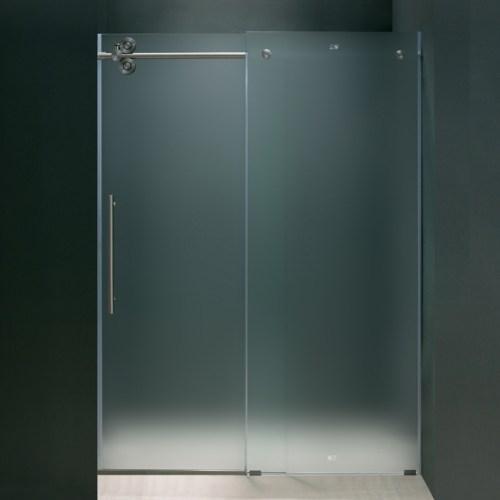 Framless Frosted Shower Doors