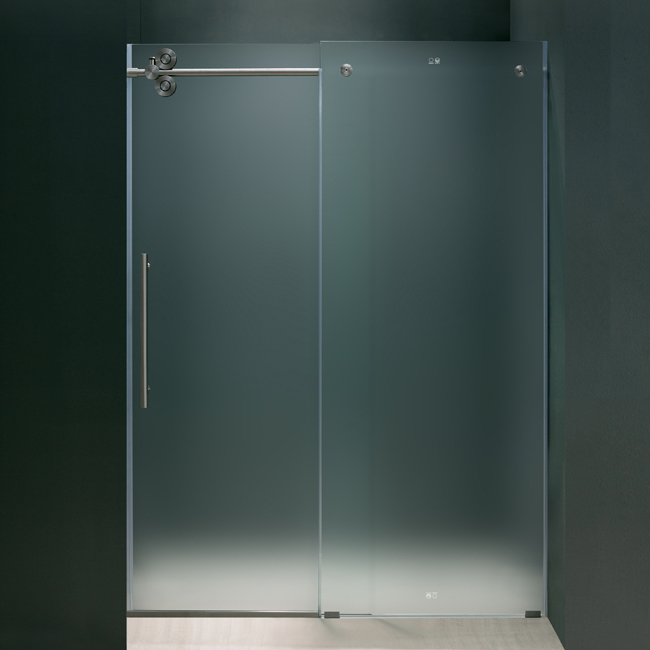 Framless Frosted Shower Doors