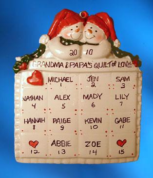 So many ornaments for grandparents, grandmas and grandpas