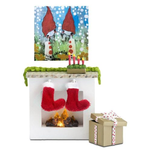 Lundby Christmas Fireplace Set Unboxed