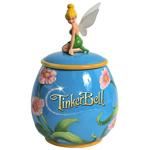 Tinkerbelle-Peter-Pan-Flower-Cookie-Jar-Disney