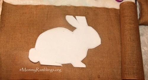burlap big bunny