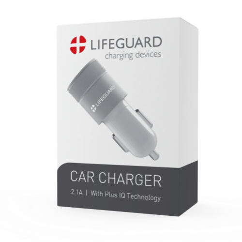 Lifeguard Car Charger White Boc