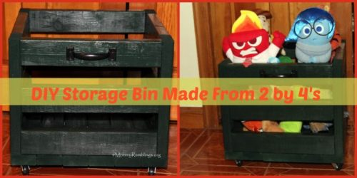 diy storage bin from 2 by 4's