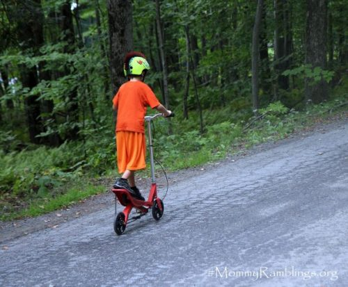 Rockboard Scooter riding