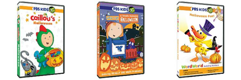 each of these dvds features a pbs kids series caillou peg cat and wordworld from carving a jack o lantern with caillou to going on a