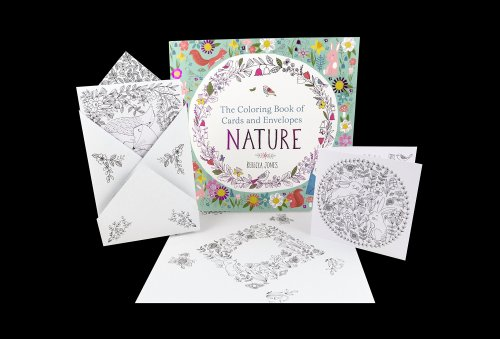 Coloring book nature cards